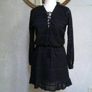 Jessica Simpson Black Dress with Tassels S